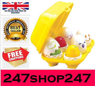 TOMY Toomies Hide And Squeak Eggs, Educational Shape Sorter Baby • 10.99£