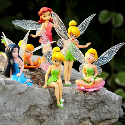 6x Fancy Tinkerbell Fairies Princess Action Figures Kids PVC Doll Toy Gift • 7.69£