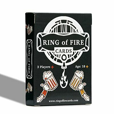 Ring Of Fire Cards - The Classic Drinking Game With All The Rules Illustrated On • 11.99£
