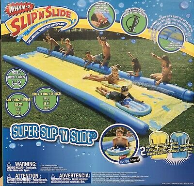 Supersized Slide 790cm With Inflatable Boards Wham 24 X 4ft Outdoor Water Slide • 139.99£
