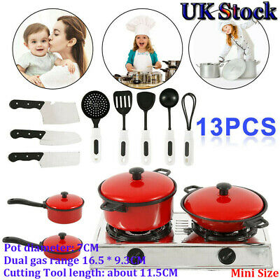 13Pcs Kitchen Cooking Utensils Pots Pans Accessories Kids Play Child Toys Lovely • 6.89£