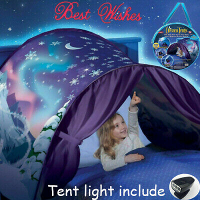 Dream Tents Kid Unicorn Winter Space Foldable Tent Pop Up Indoor Bed House Gift • 13.99£