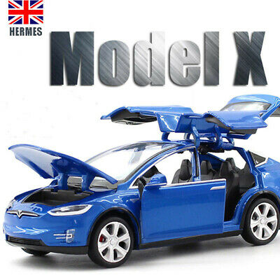 1:32 Tesla MODEL X Alloy Car Model Diecasts & Toy Vehicles Cars For Kid Gifts • 18.79£