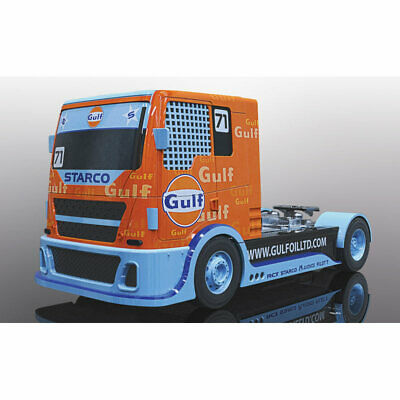 SCALEXTRIC Slot Car C4089 Gulf Racing Truck • 29.99£