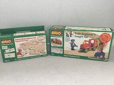 Genuine Brio Train Engineers Freight Set And Expansion Pack • 32£