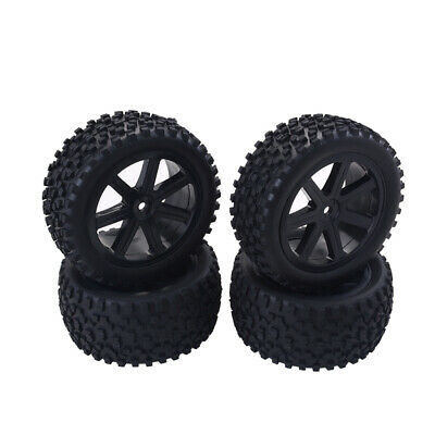 4x RC Front Rear Tires Wheels 12mm Hex For HPI HSP Traxxas 1/10 Off Road Car • 10.30£
