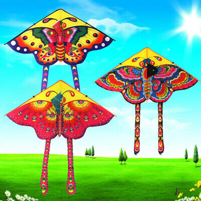 1Set 90*50cm Butterfly Printed Long Tail Kite Outdoor Kite Toy With Handle L Ff • 3.83£
