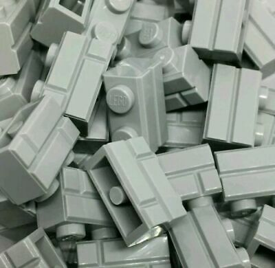 LEGO 50 X 98283 1x2 Light Bluish Grey (Medium Stone) Brick, Modified Masonry NEW • 6.45£