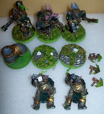 Warhammer 40k Chaos Space Marines Death Guard Blightlord Terminators X5 • 0.99£