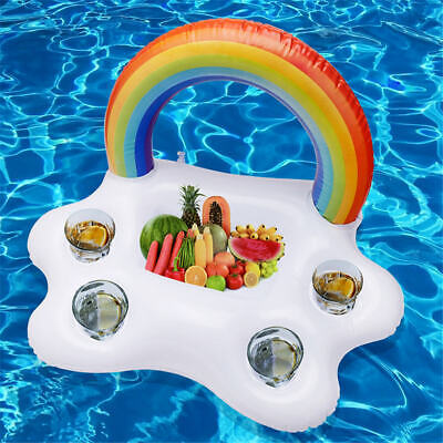 Inflatable Cup Holder Drinks Floating Beach Pool Party Swimming Hot Tub Toy • 8.09£
