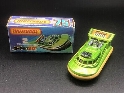 Matchbox Superfast No.2 Green Rescue Hovercraft Boxed 1978 • 14.95£
