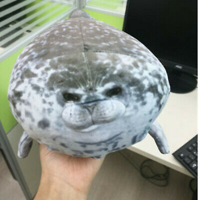 Plush Animal Toy Chubby Blob Seal Cute Ocean Pillow Pet Stuffed Doll Kids 11.8in • 4.83£