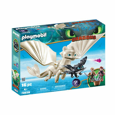 PLAYMOBIL Light Fury With Baby Dragon And Children - Dragons 70038 • 32.95£