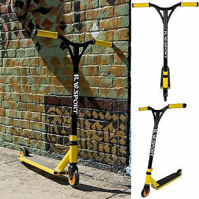 Kids Stunt Scooter Adult 360 Degree Fixed Bar Push Street Pro Trick Ride Skate • 29.99£