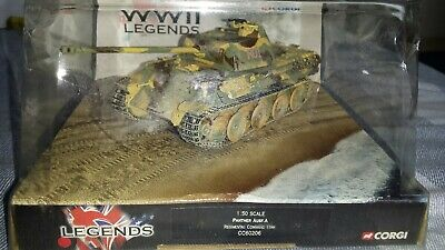 Excellent Corgi  D-Day  Legends 1/50th WWII German Panther Ausf.A Tank (CC60206) • 15£
