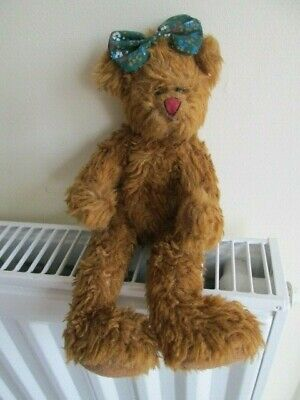 TY ATTIC TREASURE BEAR  EMILY , Big Feet Version, No Hang Tag, Head Bow. • 19.99£