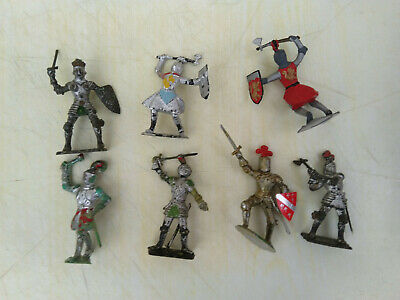 CHERILEA 60mm Medieval Knights X 7, Hand Painted. • 10.95£