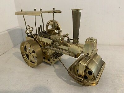Vintage LIVE STEAM WILESCO BRASS TRACTION ENGINE W/ GERMANY Used • 92£