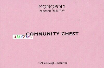MONOPOLY BOARD GAME: COMMUNITY CHEST CARDS X 16 - SPARES & REPLACEMENTS #3 • 3.95£