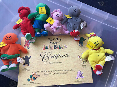 RARE Bassett's Jelly Babies Teddy Collection With Certificate • 18£