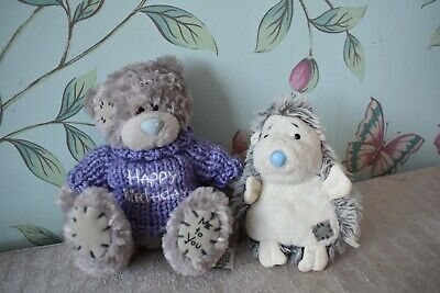 Happy Birthday Teddy Blue Nose Friends + Me To You Hedgehog Plush • 3£