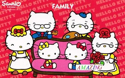 HELLO KITTY MONOPOLY BOARD GAME: 16 X FAMILY CARDS - SPARES / REPLACEMENTS   • 4.95£