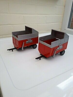Britains Farm Toys ( 2x ) Mf200 Tipping Silage Trailer Very Nice  • 34£