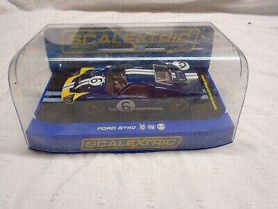 SCALEXTRIC C3097 FORD GT MKII 1966 CAR No6 BLUE • 24.99£