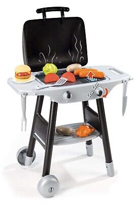 Smoby 024497 Kids Children BBQ Barbecue 16 Cooking Utensils Play Food BOX DAMAGE • 44.99£