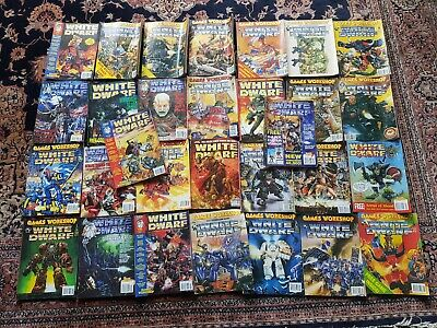 Vintage-x30 White Dwarf Magazines-OOP-Good Vintage Collectible-Various Issues • 80£