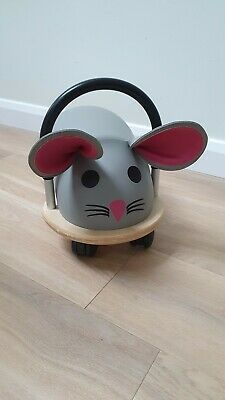 Wheely Bug Grey Mouse Wooden Ride On Toy 1year+   • 16£