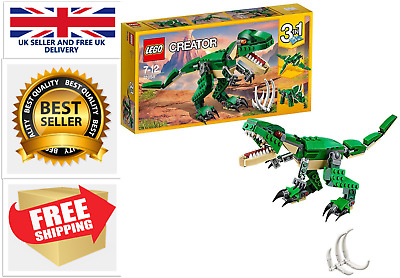 LEGO 31058 Creator Mighty Dinosaurs Toy, 3 In 1 Model, Triceratops And Pterodact • 14.99£