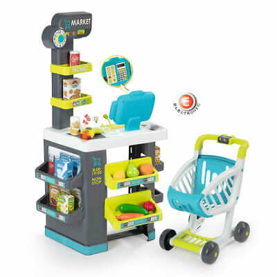 Smoby Market Learning And Entertainment Supermarket Cart Pretend Role Play Toy • 58.44£