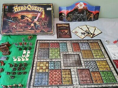 Hero Quest Board Game - Almost Complete & Good Condition (box In Poor Condition) • 13.50£