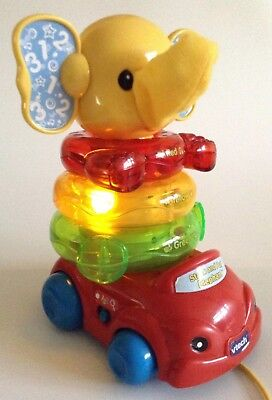Vtech Stack And Pull Elephant With Music And Lights • 8.99£