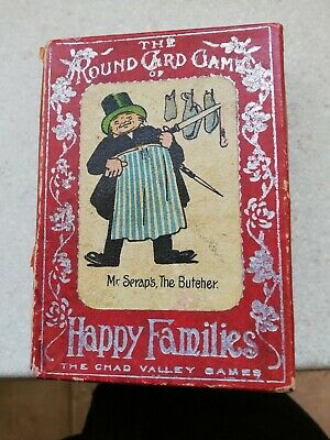 Vintage 1930'S Grotesque Happy Families Card Game • 9£
