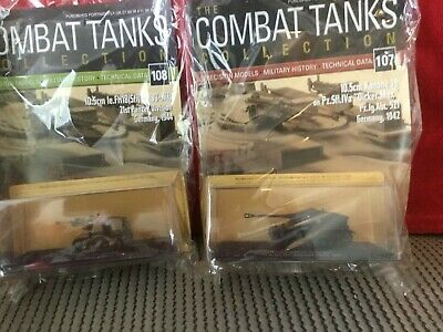 2 Deagostini Tanks Combat Collection Models 107 & 108 With Display Case & Mags • 7.89£