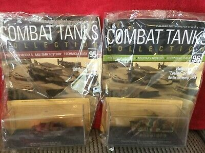 2 Deagostini Tanks Combat Collection Models 95 & 96 With Display Case & Mags • 7.89£