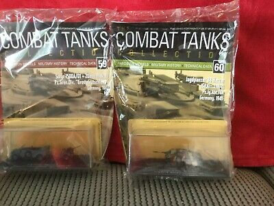 2 Deagostini Tanks Combat Collection Models 59 & 60 With Display Case & Mags • 7.89£