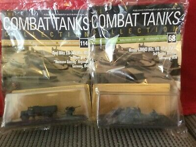 2 Deagostini Tanks Combat Collection Models 68 & 114 With Display Case & Mags • 7.89£