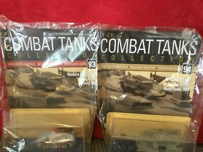 2 Deagostini Tanks Combat Collection Models 93 & 94 With Display Case & Mags • 7.89£