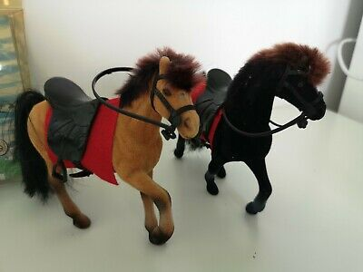 Two X Toy Play Horse Equestrian Flocked Horse With Saddle  6   • 10.77£