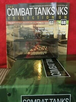 2 Deagostini Tanks Combat Collection Models 67 & 68 With Display Case & Mags • 6.98£