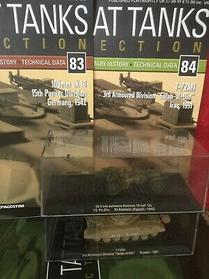 2 Deagostini Tanks Combat Collection Models 83 & 84 With Display Case & Mags • 6.98£