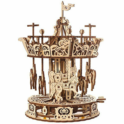 UGEARS Carousel Mechanical Wooden Model Kit 70129 • 34.19£