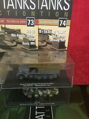 2 Deagostini Tanks Combat Collection Models 73 & 74 With Display Case & Mags • 6.98£