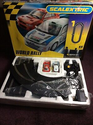 Scalextric WORLD RALLY SPORT ADVANCED TRACK SYSTEM Racing Set - Subaru/Ford. • 34.99£