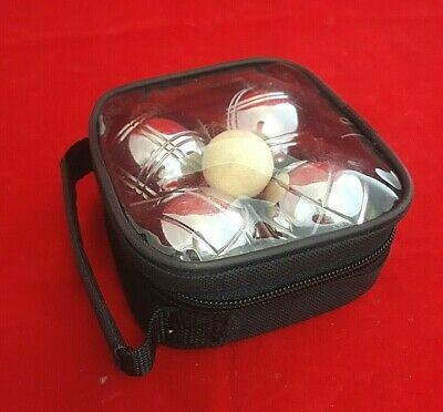 Boules Set - 4 Stainless Steel French Boules - Carry Case - Complete Garden Game • 10£