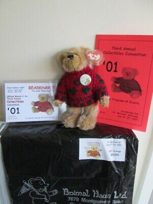 BEARKHARDT TY BEAR 3rd Annual Collectibles Convention VIP Package,Program, Cert, • 36£