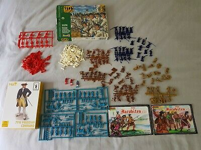 Jacobite, British, Austrian And Prussian 1/72 Scale Plastic Figures • 16.50£